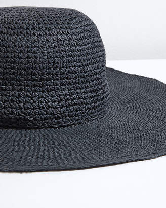 Jigsaw Open Weave Floppy Hat