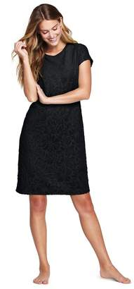 Lands  End - Black Textured Towelling Cover-Up Dress d0a97d81e