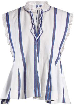 Etoile Isabel Marant Drappy sleeveless striped top