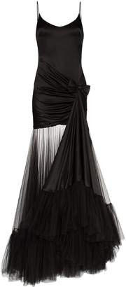 Alessandra Rich tulle train gown
