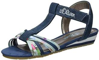 S'Oliver 48215, Girls' Wedge Heels Sandals,13.5 Child UK (32 EU)
