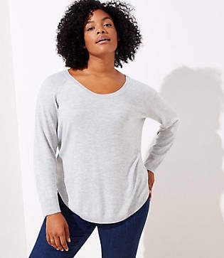 LOFT Plus Shirttail Sweater