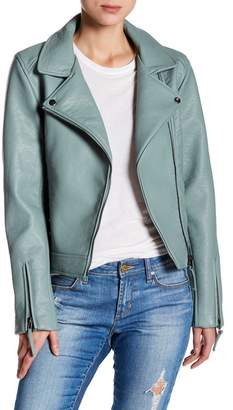 Romeo & Juliet Couture ROMEO &JULIET COUTURE Faux Leather Moto Zip Jacket