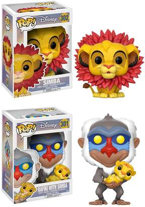 Funko POP! Disney Lion King Collectors Set: Simba (leaf mane) & Rafiki holding baby Simba