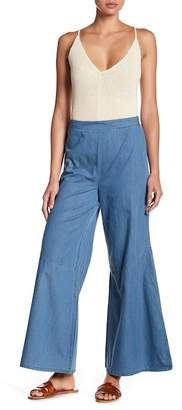 Mo:Vint High Rise Chambray Flare Pants