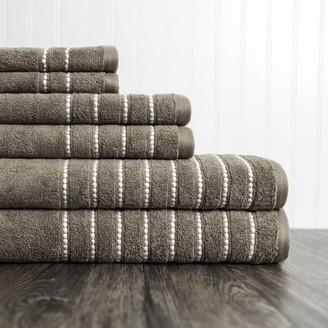 American Dawn Burke 6 Piece Towel Set in Taupe
