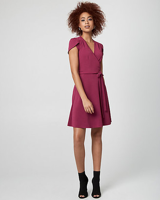 Le Château Textured Knit Wrap-Like Dress