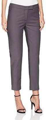 Anne Klein Women's Cotton Double Weave Slim Pant