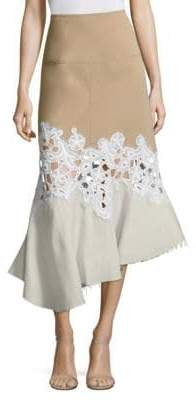 Derek Lam Mixed Media Midi Skirt
