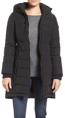 GUESS Quilted Hooded Puffer Coat $228 thestylecure.com