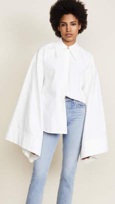 Awake White Kimono Sleeve Shirt