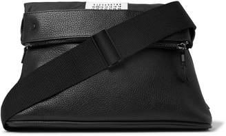 Maison Margiela Full-Grain Leather Messenger Bag - Men - Black