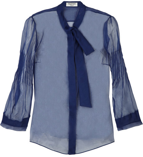 Valentino Sheer silk blouse