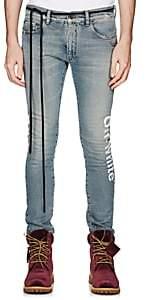 Off-White Men's Logo Skinny Jeans-Blue