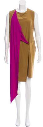 Celine Colorblock Sleeveless Dress Gold Colorblock Sleeveless Dress