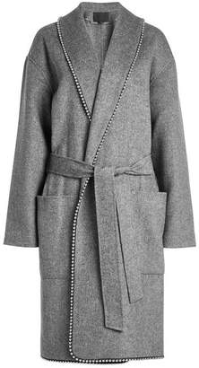 Alexander Wang Coat with Wool and Bead Embellishment