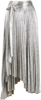 A.W.A.K.E. Mode Doric asymmetric pleated skirt