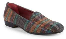 Multicolored Plaid Loafers