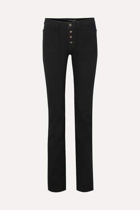Saint Laurent Mid-rise Flared Jeans - Black