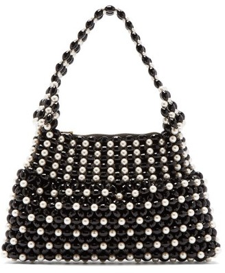 Shrimps Quinn Faux Pearl Embellished Bag - Womens - Black White