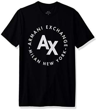Armani Exchange A|X Men's Circle Logo Crew Neck Tee