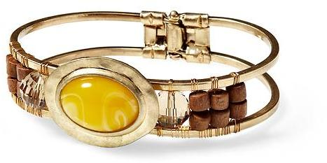 Sabine Yellow Center Stone Hinged Bracelet