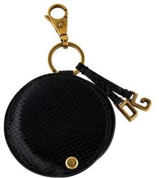 Dolce & Gabbana Embossed Mirror Keychain