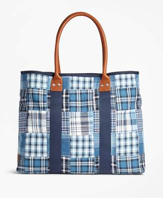 Brooks Brothers Patchwork Tote Bag