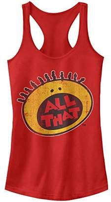 Nickelodeon Junior's All That Throwback Logo Graphic Racerback Tank Top