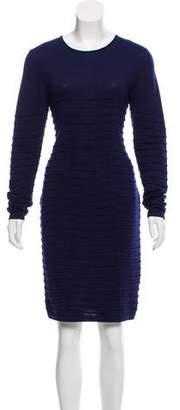 Blumarine Virgin Wool Knit Dress