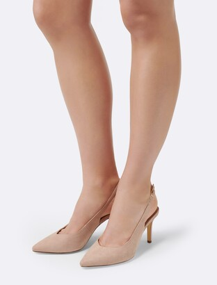 Forever New Jac Slingback Court Shoes - Nude - 42