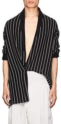 Haider Ackermann Men's Striped Wool-Blend Robe Cardigan