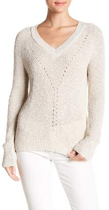 Absolutely Cotton Engineer Pointelle V Neck