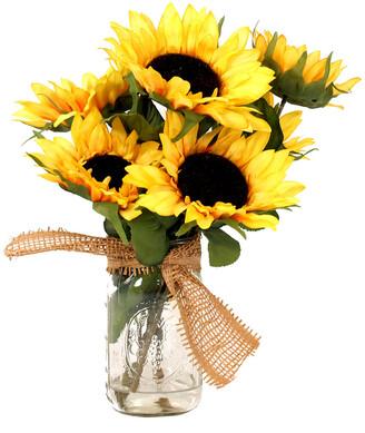 Creative Displays Sunflower Bouquet In Glass Mason Jar