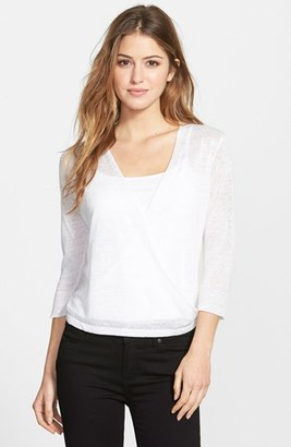 NIC+ZOE '4-Way' Convertible Three Quarter Sleeve Cardigan $98 thestylecure.com
