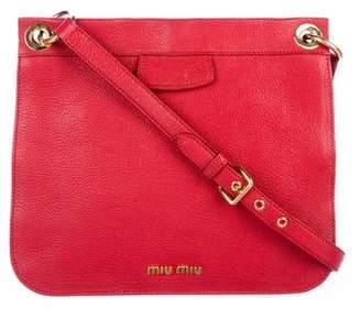 Miu Miu Leather Flat Crossbody Bag
