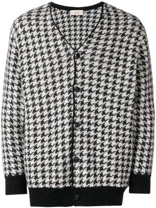 Maison Flaneur houndstooth pattern cardigan