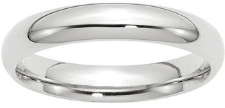 Wedding Bands USA 14k White Gold 4mm Comfort-Fit Band