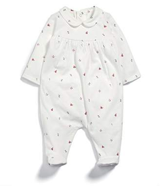 Mamas and Papas Baby Girls' Ditsy Print Collar All in One Sleepsuits