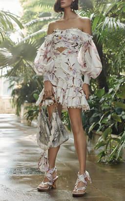 Zimmermann Corsage Bauble Floral Mini Skirt