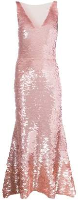Oscar de la Renta sequinned gown