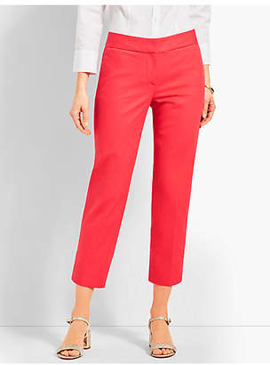 Talbots Cotton Pique Slim Crop