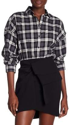 IRO Front Button Plaid Shirt