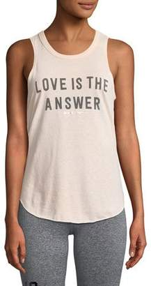 Spiritual Gangster Love Is The Answer Draped-Back Studio Tank