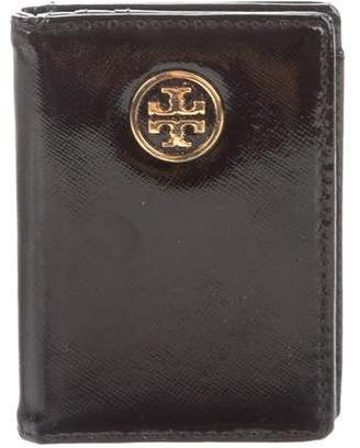 Tory Burch Patent Leather Flap Wallet