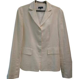 Adolfo Dominguez White Linen Jacket for Women