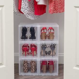 Iris High 4 Pair Stackable Plastic Shoe Storage Box