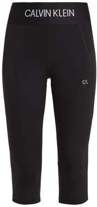 Calvin Klein Logo Jacquard Performance Leggings - Womens - Black