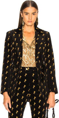 Chloé Horse Embroidered Blazer in Black | FWRD