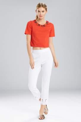 Natori Breeze T-Shirt Top With Beading